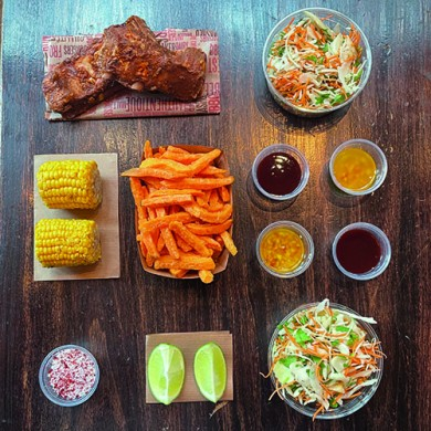 BBQ RIBS KIT FOR TWO PEOPLE